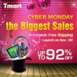 Tmart announced a 5-day promotional activity with up to 92% discount...
